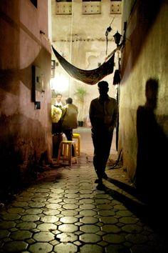 Great lighting and shadows // dubai alley.  by   Johannes Carlsohn