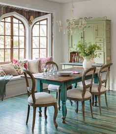 gsfrenchshabbylife / french country dining / home interior design