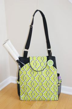 Large Tennis Bag with rounded pockets. by TranerTotes on Etsy, $89.00