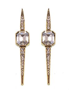 Materials: Swarovski crystals in black diamond Antique silver plated brass Measurements:Length: xin/xcm, Width: xin/xcm Closure:Post back, for pierced ears Av