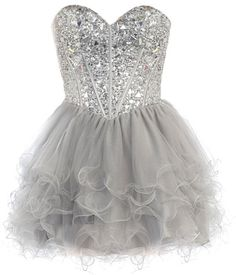 Diamond Fantasy Dress: Features a gorgeous corset-style bodice with sharp sweetheart neckline, sparkling jewel-encrusted front made with dozens of geometrical gemstones, corset ribbon closure to the back, and flumes of air-whipped tulle cast in dramatic curls layered around the skirt to finish.