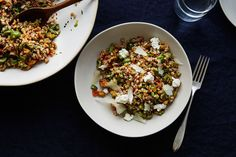 Easy Dinner: Olive and Farro Salad  on Food52