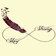 self harm Infinity Tattoo | stay strong feather tattoo