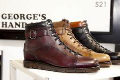 La sneaker de luxe par George's pour l'hiver prochain #mode #homme #chaussures #sneakers #cuir #boucle #shoes #mensfashion #menswear