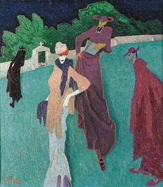 "Lyonel Feininger (American/German, 1871-1956), ""Jesuits I""."