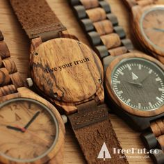 """Live your truth"" personalized engraved #watch from Treehut Co."