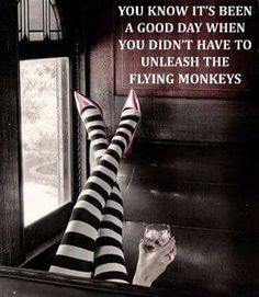 Just say no to flying monkeys...
