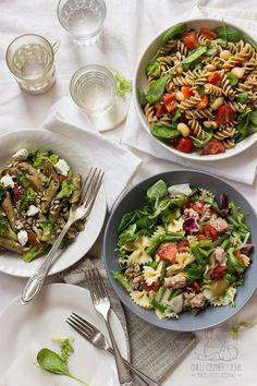 3 proste sałatki makaronowe do pracy /Chilli, Czosnek i Oliwa Healthy Salad Recipes, Pasta Recipes, Big Meals, Slow Food, Food Inspiration, Health Fitness, Food And Drink, Healthy Eating, Lunch