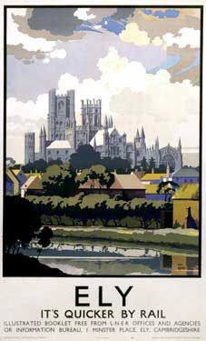 This Ely View of Cathedral across River Art Print Art Print is created using state of the art, industry leading Digital printers. Ely View of Cathedral across River Posters Uk, Railway Posters, Train Posters, Retro Posters, Ely Cathedral, British Travel, National Railway Museum, Vintage Travel Posters, Poster Vintage