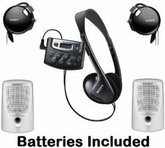 """Sony Walkman Digital Tuning Palm Size AM FM Stereo Radio with Weather Band, 20 Station Preset Memory, DX Switch for Exceptional Reception, Belt Clip, Over the Head Stereo Headphones, On The Ear Adjustable Clip-on Headphones & Passive Lightweight Portable Speakers - Batteries Included by Sony. $64.95. Weather Band Tuning FunctionLets you listen up-to-the-minute weather from your local weather band broadcasts.1 """"AAA"""" Battery OperationProvides hours of listening and helps to make t..."""