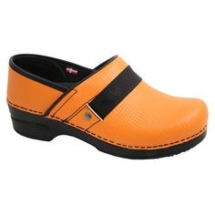 Smart Step Professional Clog by Sanita Women's Rae Lyn Shoe #orangeclog #nursestyle #hospitalstyle