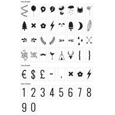 Kit symboles A Little Lovely Company