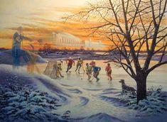 James Lumbers Where Dreams Are Born Trisha Romance, Most Beautiful Paintings, Nostalgic Art, Fishing Hole, Art Painting Gallery, Canadian Artists, Best Artist, Limited Edition Prints, Landscape Art