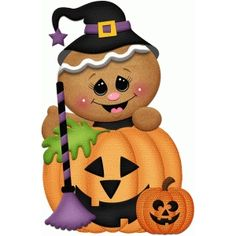 Silhouette Design Store: halloween gingerbread witch with broom