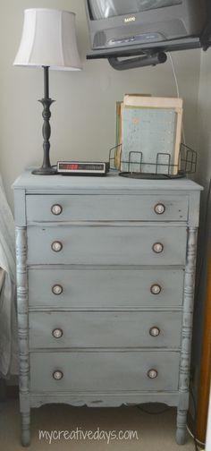 Peek-A-Boo Dresser #DIY #paintedfurniture #polkadots - www.countrychicpaint.com/blog