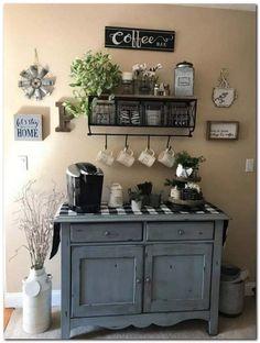 Coffee Bars In Kitchen, Coffee Bar Home, Home Coffee Stations, Coffee Bar Ideas, Home Design, Design Ideas, Coffee Bar Design, Coffee Nook, Cozy Coffee