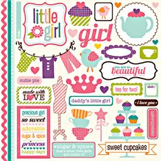 Echo Park - Little Girl Collection - 12 x 12 Cardstock Stickers - Element at Scrapbook.com $2.99
