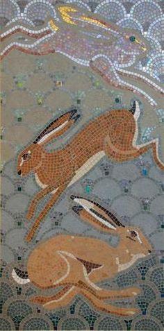 Mad March Hare Mosiac - Erica Bibbings