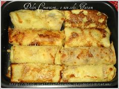 Cannelloni di crepes farciti al radicchio Crepes, Raw Food Recipes, Pasta Recipes, Lacto Vegetarian Diet, Cannelloni Recipes, Crepe Recipes, One Pot Pasta, Starchy Foods, Base Foods