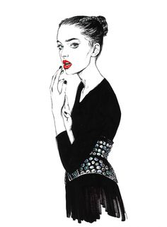 Diana Kuksa. Fashion illustration on Artluxe Designs. #artluxedesigns