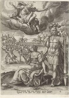 Volwassenheid onder invloed van de zon, Adriaen Collaert, Gerard de Jode, 1581