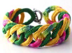 Irish Crochet Bracelet Fiber Bracelet Faux door Nothingbutstring