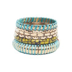 Robert Rose Crackle Stone Bangle Set Multi up to 70% off | Jewelry | Little Black Bag