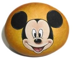 Hand Painted Stone  Night by RockArtAttack on Etsy