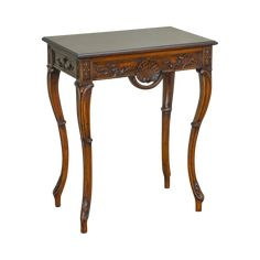 Custom French Louis XV Rococo Style Carved Walnut Console Table on Chairish.com