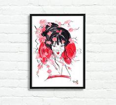 """Look of Geisha"" by Matita's Art - Illustration of Martina Gallo - Japanese illustration"