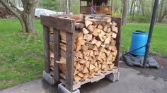 I just started my first year of storing and drying my own firewood from  my property. Got  some pallets   and want to use it until wood shed is build....