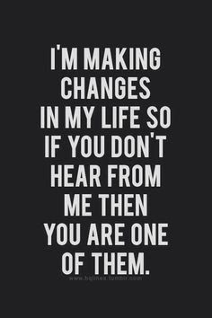 MAXMILLIAN THE SECOND: I'm making changes in my life.....