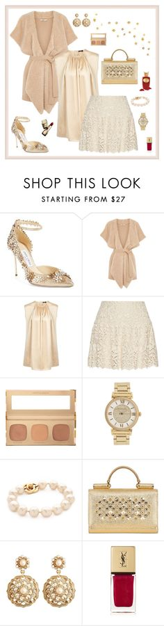 """""""Untitled #222"""" by maurogianni-za ❤ liked on Polyvore featuring Jimmy Choo, Oasis, Joseph, Alice + Olivia, Bare Escentuals, Michael Kors, Dolce&Gabbana, Brooks Brothers, Guerlain and Yves Saint Laurent"""