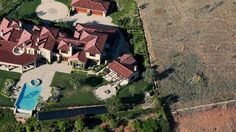 Aerial view April 4, 2015 Rancho Santa Fe, California. Gov. Jerry Brown has demanded a 25 percent cut in urban water usage due to a severe drought. Campuses, golf courses, other industrial and recreational facilities, and homeowners usage are expected to comply.