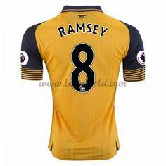 Billige Fodboldtrøjer Arsenal 2016-17 Ramsey 8 Kortærmet Udebanetrøje