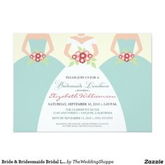 Bride & Bridesmaids Bridal Luncheon (seaside) Card