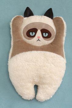Plush pillow Grumpy Cat by PetitiPanda on Etsy, €29.90