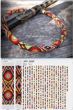 14 around bead crochet rope pattern and a photo showing what the completed necklace looks like. I did not create this pattern or necklace but i find it useful to see the two together when choosing my next project. i thought you might too. Bead Crochet Patterns, Beading Patterns Free, Bead Crochet Rope, Beaded Jewelry Patterns, Beading Tutorials, Bracelet Patterns, Bracelet Crochet, Beaded Bracelets, Loom Beading