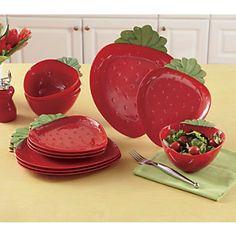 12-Piece Strawberry Dinnerware Set from Ginnys ®