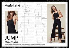 ModelistA: 2016-03-06 Look Fashion, Diy Fashion, Ideias Fashion, Jumpsuit Pattern, Pants Pattern, Diy Clothing, Sewing Clothes, Dress Sewing Patterns, Clothing Patterns