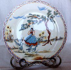 A rare Orignal hand painted ceramic plate by by Lulubellebazaar, $30.00