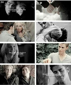 """#TVD The Vampire Diaries Stefan & Caroline """"You've* fallen in love with your best friend, the person who accepts you at your worst, the person who laughs at your stupid jokes, the person who knows you better than you know yourself"""""""