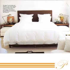 #ELLEDECOR reserves in #2009 an article on the history of Pratesi.  #Pratesi #magazine #PILLOW #KINGSIDEBED #LINEN #pratesiluxury #madeinitaly #elegance #fashion #bedding #bed #bedroom #embroidery #cool #mode #newyork #home #style #paradisecollection #luxury #home #family #fashion #fashionhome