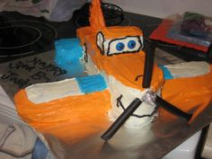 """Dusty Crophopper from Disney's """"Planes"""" Planes Cake, Planes Party, Airplane Party, 1st Birthday Parties, 3rd Birthday, Happy Birthday, Birthday Cakes, Birthday Ideas, Dusty Cake"""
