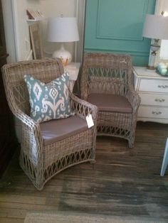 Love these style chairs and Ikat pillow