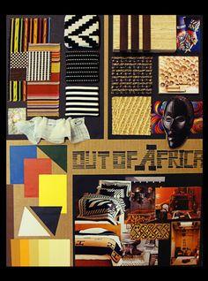 African Style In Interior Design Board by Van Dang, via Behance