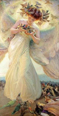 Franz Dvorak - The Angel of The Birds - art prints and posters