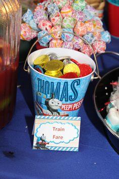 Chocolate coins for train fare