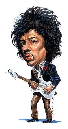 Jimi Hendrix ..FOLLOW THIS BOARD FOR GREAT CARICATURES OR ANY OF OUR OTHER CARICATURE BOARDS. WE HAVE A FEW SEPERATED BY THINGS LIKE ACTORS, MUSICIANS, POLITICS. SPORTS AND MORE...CHECK 'EM OUT!!