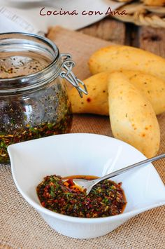 Photo by Ana Ruiz Chimichurri, Clean Recipes, Cooking Recipes, Healthy Recipes, Yummy Eats, Yummy Food, Sauces, Latin American Food, Dip